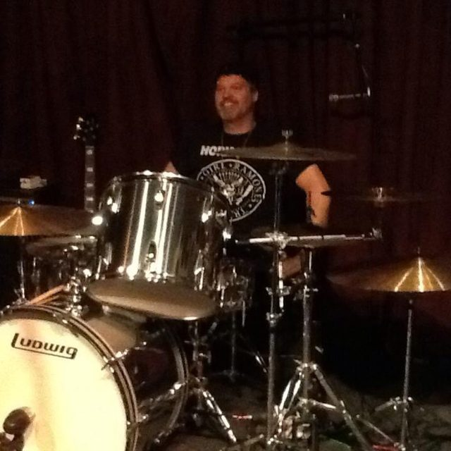 Bruce on drums