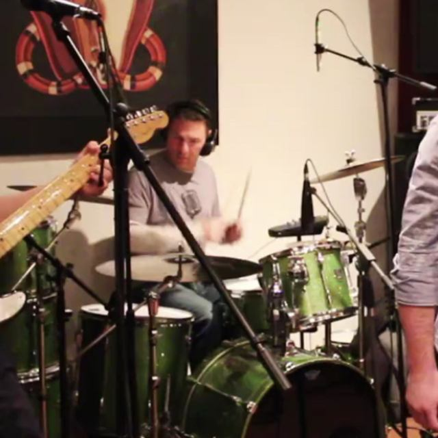 Kristof on drums