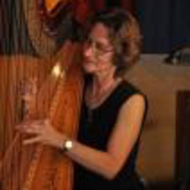 Harpist Sue Druckenmiller