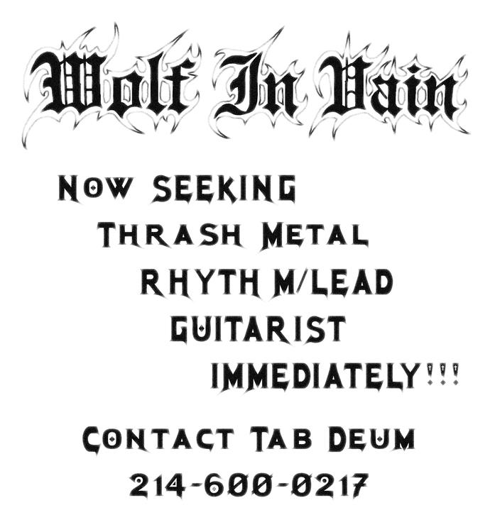 wolf in vain - band in mckinney tx