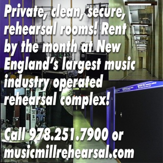 Music Mill Rehearsal Space Studios Practice Rooms Complex MA NH Boston